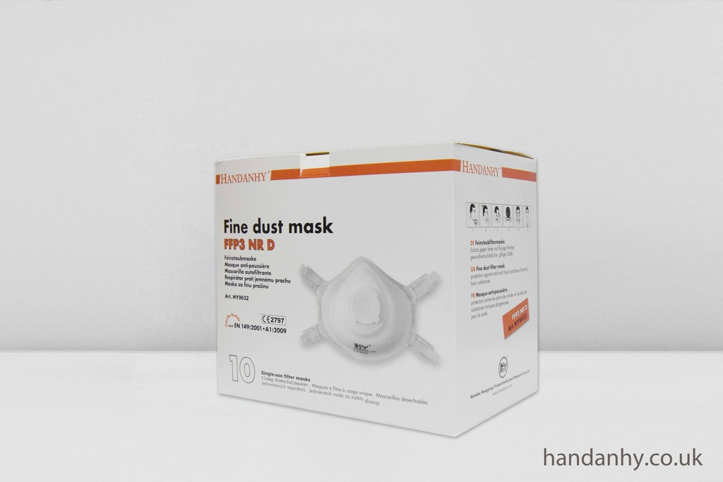 HY9632 FFP3 Respirator NR Valved (Box of 10)